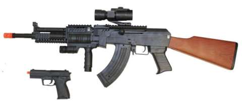 AK47 RIFLE THAT WAS POINTED DIRECT AT THE DRIVER'S CEREBRUM