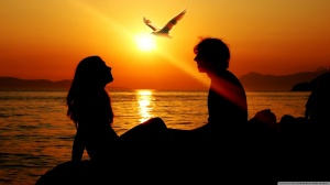 AT THE SUNSET, MAKING OUT WHEN NO ONE IS ON THE LOOK OUT AND WHISPERING THOSE SWEET NOTHINGS ON YOUR EARS... OOHH!