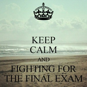 Keep calm it is just an exam no need to panic