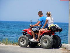 'I THINK WE SHOULD GO FOR A SWEET RIDE' SHE GOT ON TOP OF THE QUAD BIKE AND FOLLOWED LORENZO
