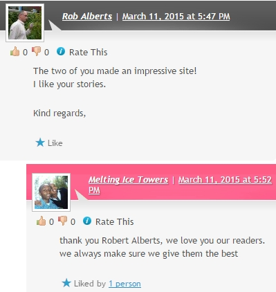 ALBERTS, YOUR BLOG IS ALSO AWESOME. THE BLOGGERS VISIT EACH OTHER AND ALSO LEAVE SOMETHING NICE. THANK YOU.