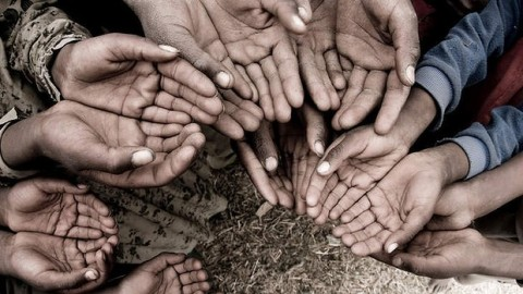 hands against poverty